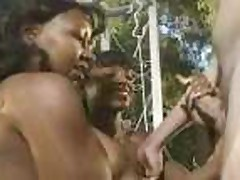 Classic Ebony Chicks Handjob