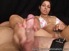 Elena Charan Sexy Handjob & Foot Tease