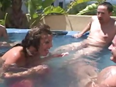 Ava Devine Gang bang cumchot in the pool-baz