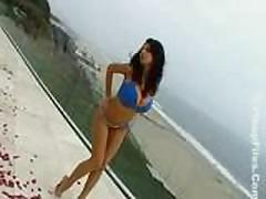 Jana in a blue bikini