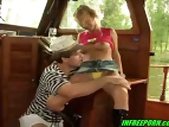 Very Cute Blonde Teen Fucking The Sailor