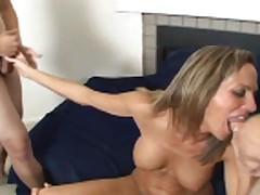 milf takes on multiple cocks