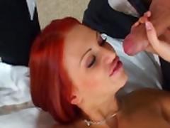 sexy redhead gangbang