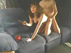 Cigar and sex on the couch