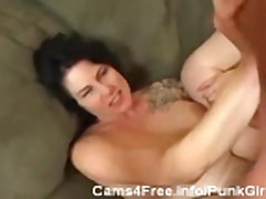 EMO Tattooed Amatuer Punk MILF Gets Fucked Hard!