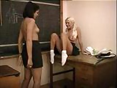 Asian Lesbian With Her Classmate
