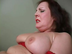 Young boy  horny mature. She teach him how to fuck her