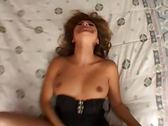 Big dick fucks her cunt in POV