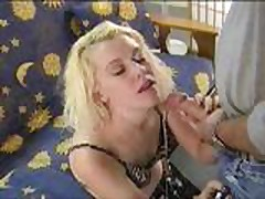 Smoking Fetish - Deep draggers in smoking blowjob actio