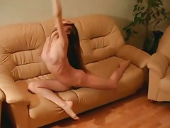 Naked Ballerina Training (Nice Feet)
