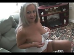 Attractive busty granny in open girdle