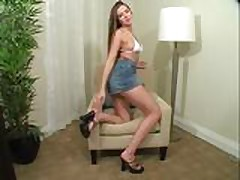 Becky JO Instruction in Miniskirt