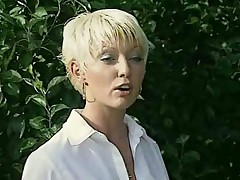 Schoolgirls caught smoking have lesbian sex