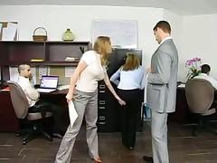 His beautiful busty secretary loves cock