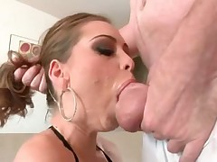 Messy deepthroat BJ with Riley Reid