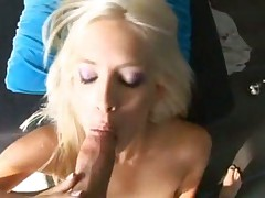 Blowjob with a blonde