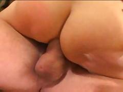 Slender brunette milf gets her asshole gaped by cock