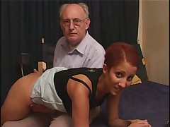 White dude is old and horny for Arab slut