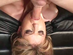 Messy face fucking for the cute blonde