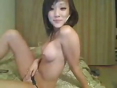 Asian webcam girl strip and tit play