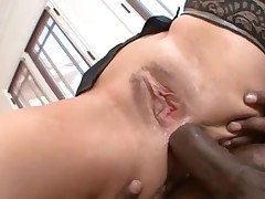 Anal slut with a big ass likes black cock