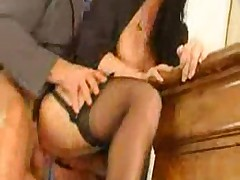Horny milf gets fucked hard in the office