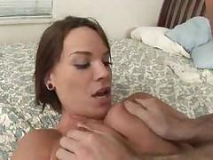 Lustful brunette minx gets double penetrated