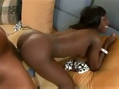Black chick is slim and fit and full of dick