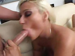 Face fucking leads to double penetration