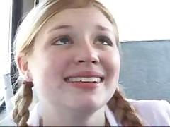 Schoolgirls on the bus suck a dick