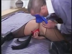 Brunette milf DP and fisting