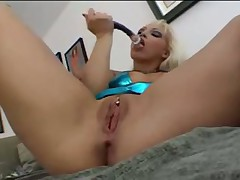So horny blonde solo