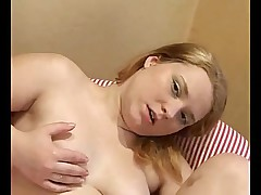 Chubby RedHead Ex Girlfriend playing with pink Vib