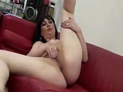 Horny MILF Fingers Her Pussy While Watching Porn