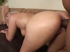 Big black cock fucks her curvy white ass