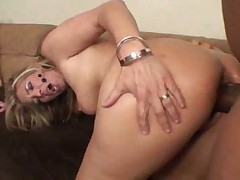 Big black cock fucks her curvy white ass
