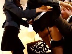 Super hot private school girls undress for his cock
