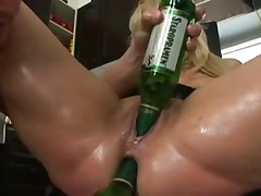 Bottles and toys and cocks inside her