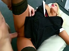 Office milf with a curvy body boned by big cock