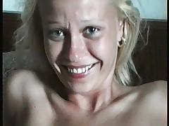 Naked blonde seducing