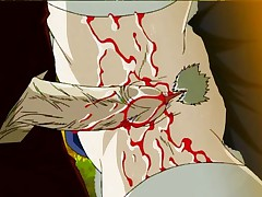 Bloody hentai sex