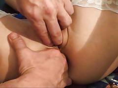 Teen schoolgirl in stockings gets cock