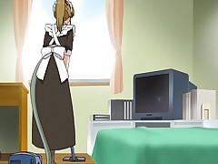 Hentai bondage maid fucked until she drips