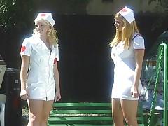 Blonde helps vaginal