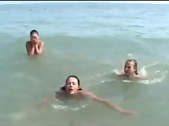 Teens nude at Nudist beach