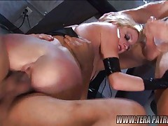 Blonde gets two wild inside!