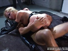 Blonde gets two wild inside!