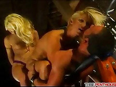 Threesome with Strap-on