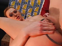 Sexy brunette babe loves anal penetration