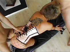 Isabella Ice ass fucked hard by two cocks